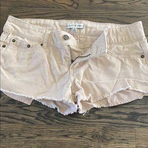 Beige jeans shorts